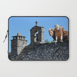 Vulture Perched On Church Roof Laptop Sleeve