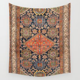 Hamadan  Antique West Persian Rug Print Wall Tapestry