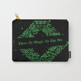 There Is Magic In The Air - Green Celtic Pattern Carry-All Pouch