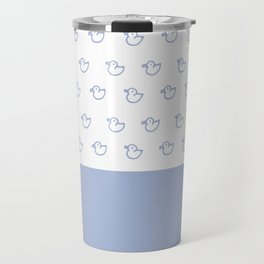 Ducklings light blue Travel Mug