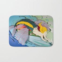 Flying Mermaid Bath Mat