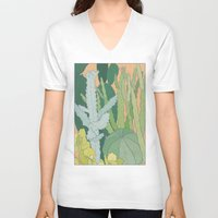 cacti V-neck T-shirts featuring Cacti by Julia Walters Illustration