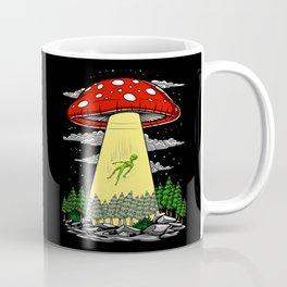 Alien Abduction Magic Mushrooms Psychedelic UFO Coffee Mug