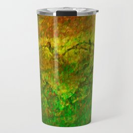 The Heart - Painting by Brian Vegas Travel Mug