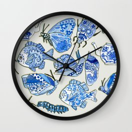 delft blue dream Wall Clock