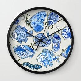 delft blue dream Wall Clock