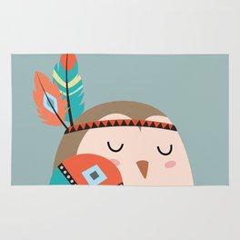 tribal bird Rug