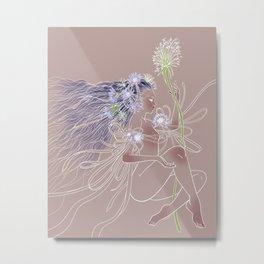 Flowergirl 02 - Blue Lotus Metal Print
