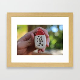 All You Need Is Love House Framed Art Print