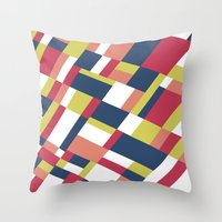 matisse Throw Pillows featuring Map Matisse Stretched by Project M