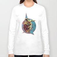 spiritual Long Sleeve T-shirts featuring Spiritual Tiger by Rene Alberto