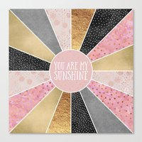 you are my sunshine Canvas Prints featuring You are my sunshine by Elisabeth Fredriksson