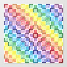 Static Rainbow Squares Canvas Print