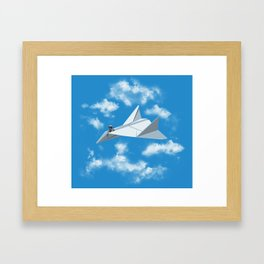 Paper Airplane Framed Art Print