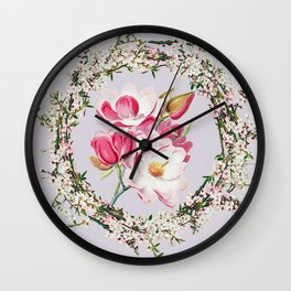 More flowering Wall Clock