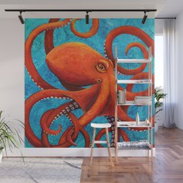 Holding On - Octopus Wall Mural