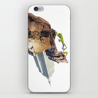 climbing iPhone & iPod Skins featuring Climbing by Lerson