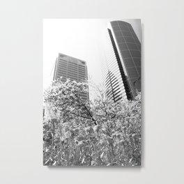 Growing A City, Seattle In Black & White Metal Print