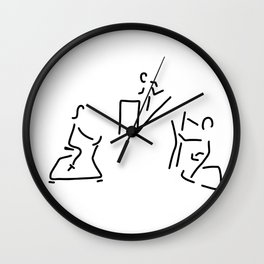 fitness hometrainer crosstrainer sport Wall Clock