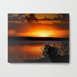 Fish Hook Sunrise Metal Print
