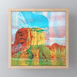 Monument Framed Mini Art Print