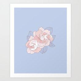 GARDENIA - Serenity Art Print
