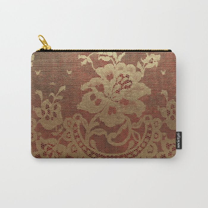 Red Lace Velvet 01 Carry-All Pouch