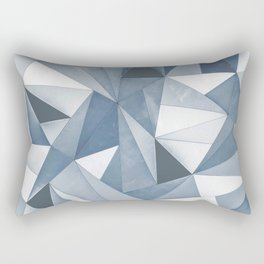 Try Angles Blue Rectangular Pillow
