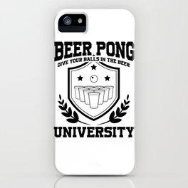 Beer Pong University Drinking Game Mug Gift iPhone Case