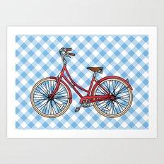 His Bicycle Art Print