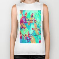 surrealism Biker Tanks featuring Autumn fantasy surrealism leaves by Die Farbenfluesterin