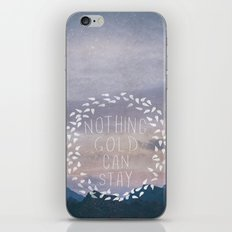 II. Nothing Gold Can Stay iPhone & iPod Skin