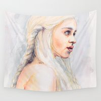 danny haas Wall Tapestries featuring Danny by Maria Bruggeman