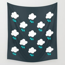 Rain Cloud Pattern Wall Tapestry