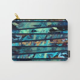 Undaunted A - Abstract in Black and Blue Carry-All Pouch