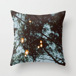 lights in the woods Throw Pillow