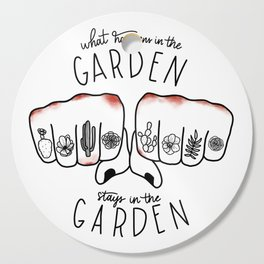 What Happens in the Garden? Cutting Board