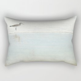 Reflecting Sandpiper Rectangular Pillow