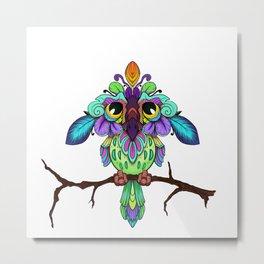 Bird on a Stick Metal Print