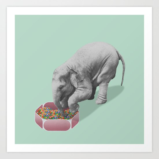 Gourmand elephant (animals collection) Art Print