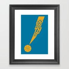 Do You Feel the Thunder? (Blue) Framed Art Print