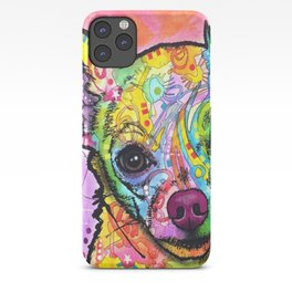 Colorful Chiwawa Dog - Colorful Chihuahua Dog Drawing - Dog Lover Gift iPhone Case