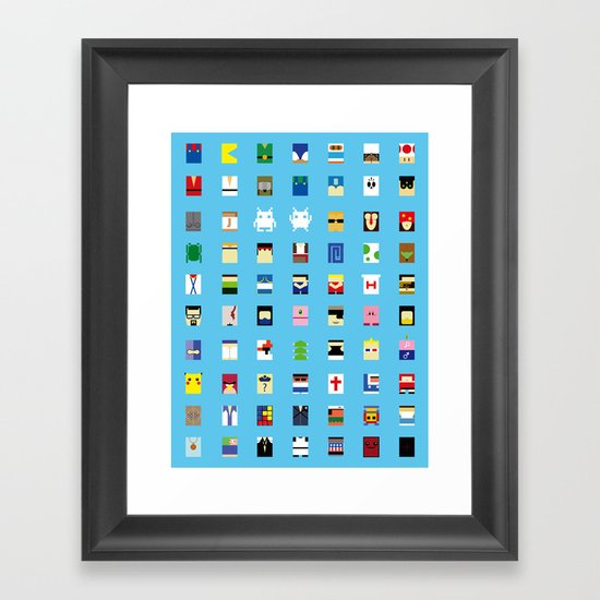 Minimalism beloved Videogame Characters Framed Art Print