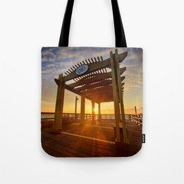 Bayside Sunrise Tote Bag