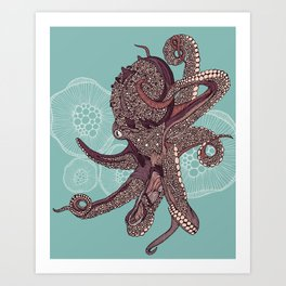 Octopus Bloom Art Print