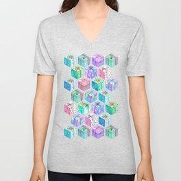 Christmas Gift Hexagons Unisex V-Neck