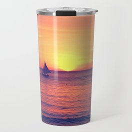 Sunset on White Beach - Boracay Island Travel Mug