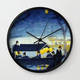 Wasen at Night - Vintage Japanese Art Wall Clock