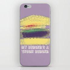 Veggie Burger (purple) iPhone & iPod Skin