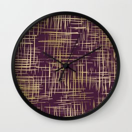 Crosshatch Plum Wall Clock